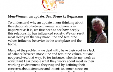 Men-Women: an update. Drs. Dieuwke Begemann
