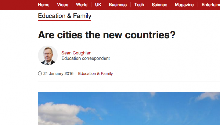 BBC News: Are cities the new countries?
